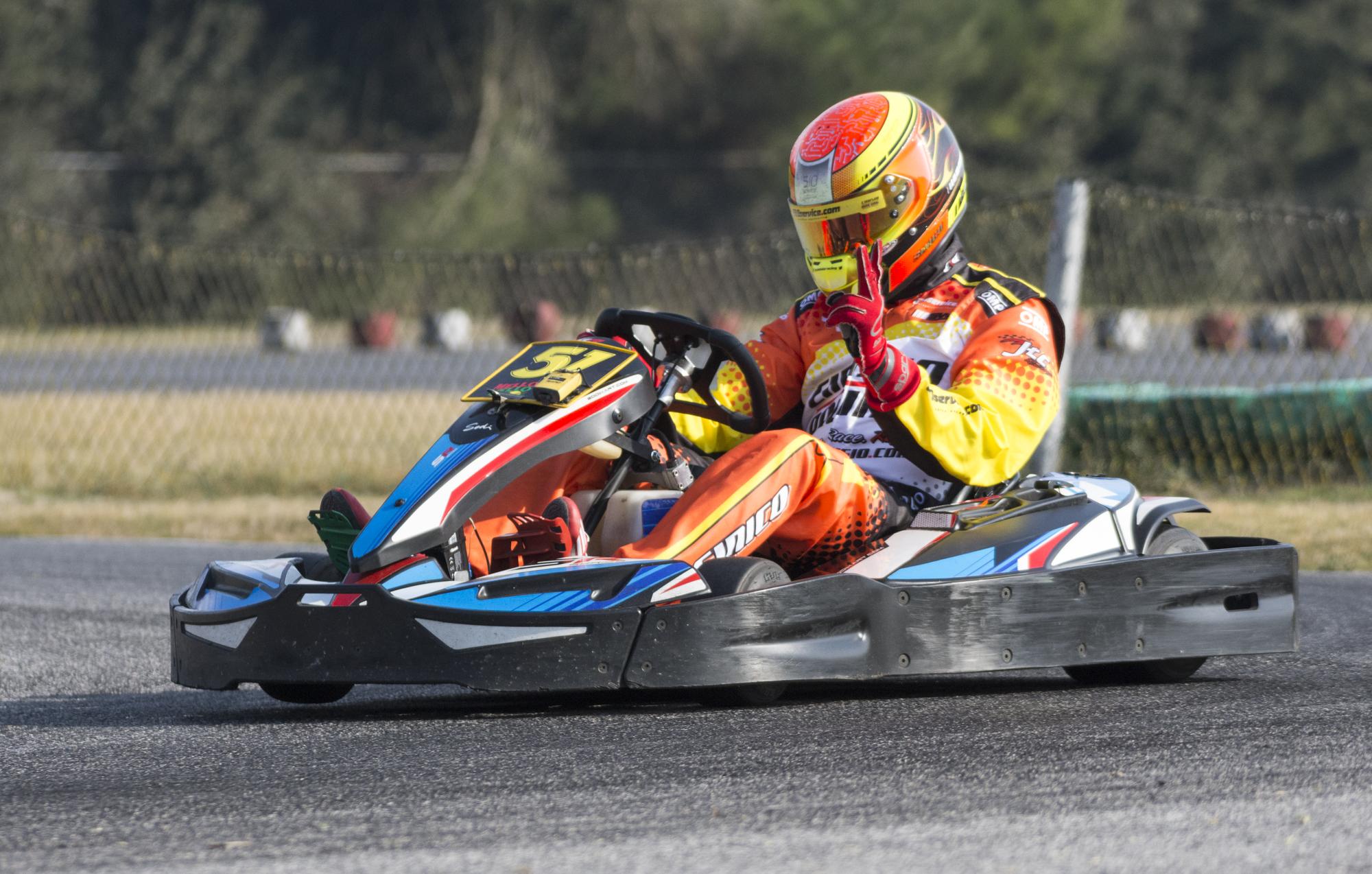 Marco Sinico in gara